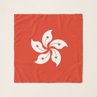 Square Scarf with flag of Hong Kong