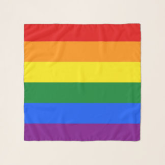 Square Scarf with Rainbow Pride flag of LGBT