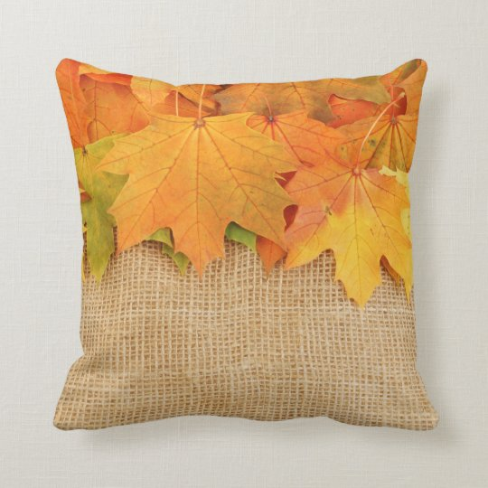 Square shaped cushion Autumn in NYC