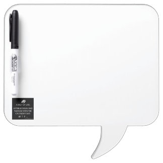 Square Speech Bubble w/ Pen Dry Erase Board