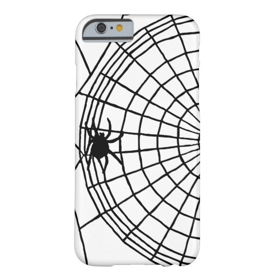 Square Spider Web, Scary Halloween Design Barely There iPhone 6 Case