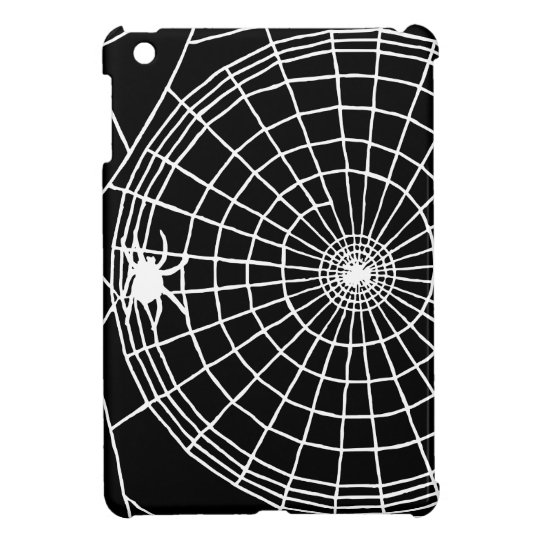 Square Spider Web, Scary Halloween Design iPad Mini Covers