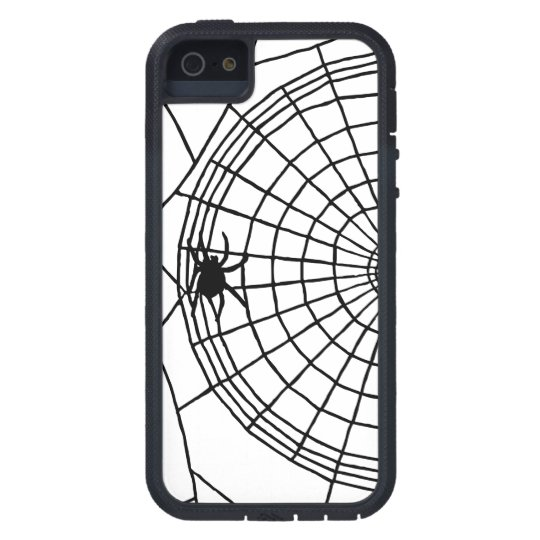 Square Spider Web, Scary Halloween Design iPhone 5 Case