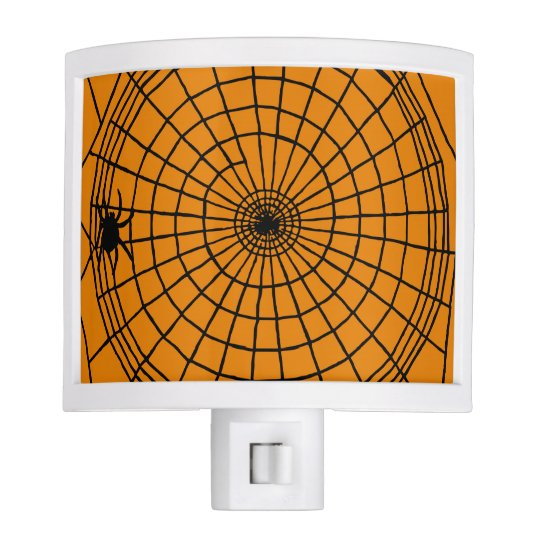 Square Spider Web, Scary Halloween Design Night Lights