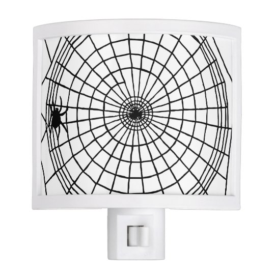 Square Spider Web, Scary Halloween Design Nite Lights
