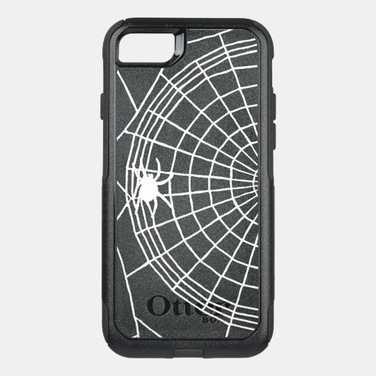 Square Spider Web, Scary Halloween Design OtterBox Commuter iPhone 8/7 Case