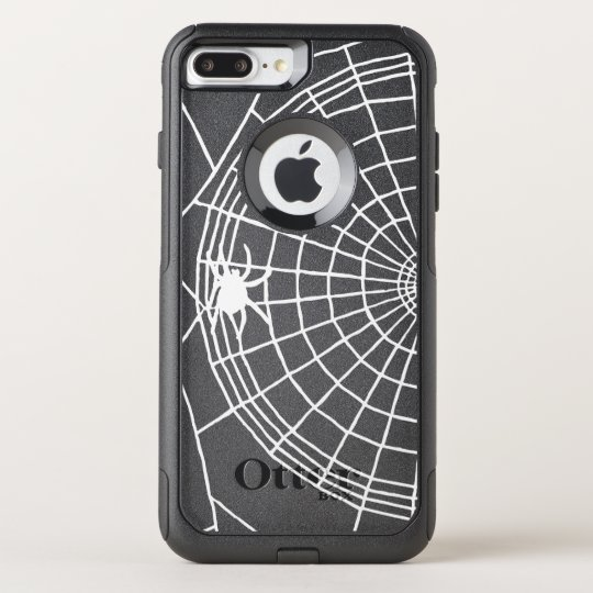 Square Spider Web, Scary Halloween Design OtterBox Commuter iPhone 8 Plus/7 Plus Case