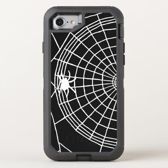 Square Spider Web, Scary Halloween Design OtterBox Defender iPhone 7 Case