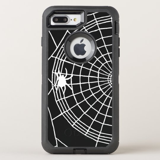 Square Spider Web, Scary Halloween Design OtterBox Defender iPhone 7 Plus Case