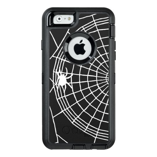 Square Spider Web, Scary Halloween Design OtterBox Defender iPhone Case