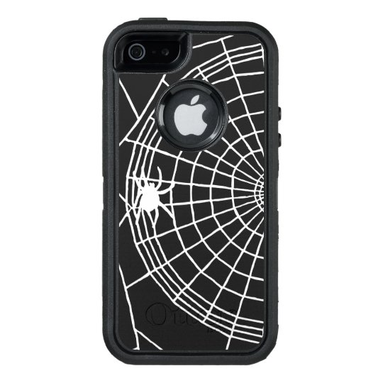 Square Spider Web, Scary Halloween Design OtterBox iPhone 5/5s/SE Case