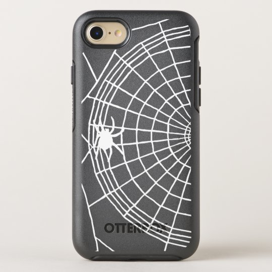 Square Spider Web, Scary Halloween Design OtterBox Symmetry iPhone 8/7 Case