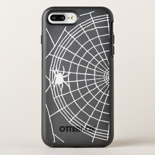 Square Spider Web, Scary Halloween Design OtterBox Symmetry iPhone 8 Plus/7 Plus Case