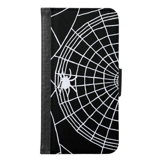 Square Spider Web, Scary Halloween Design Samsung Galaxy S6 Wallet Case