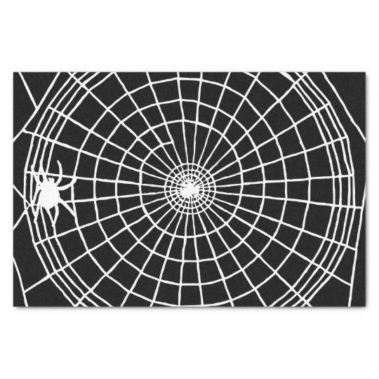 Square Spider Web, Scary Halloween Design Tissue Paper