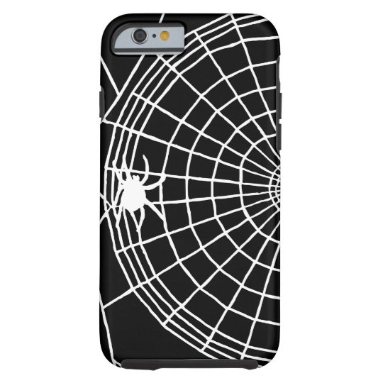 Square Spider Web, Scary Halloween Design Tough iPhone 6 Case