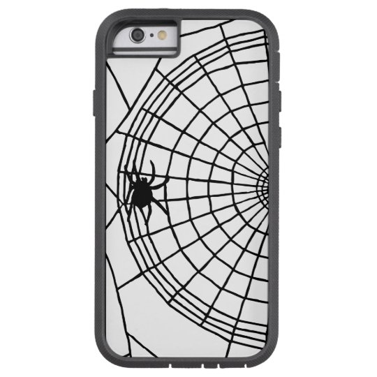 Square Spider Web, Scary Halloween Design Tough Xtreme iPhone 6 Case