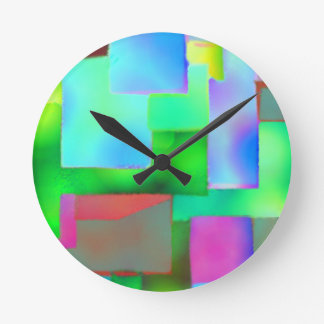 square spots of ink wall clocks