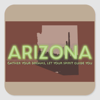 Square Stickers, Glossy ARIZONA SPIRIT Square Sticker