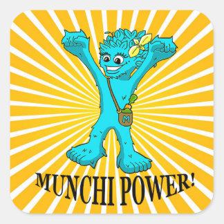 square stickers Munchi Power! MRS MUNCHI _ENERGY