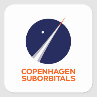 Square Stickers with Copenhagen Suborbitals Logo