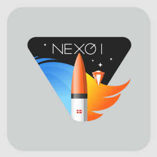 Square Stickers with Nexø I Mission Patch