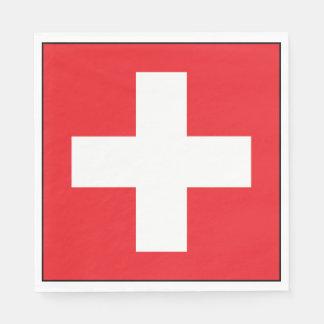 Square Swiss Flag Paper Napkins