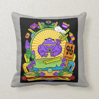 Square Throw Pillow - Munchi Power! Kid 3Frog