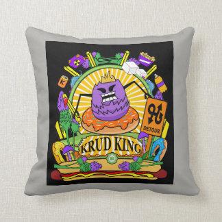 Square Throw Pillow Munchi Power! Krud King logo