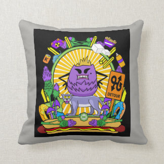 Square Throw Pillow  - Munchi Power! Krud Queen