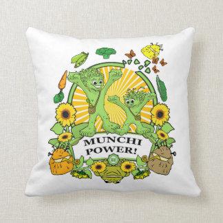 Square Throw Pillow Munchi Power! Mini-M logo