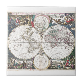 Square Tile ft. 1685 Bormeester Map of the World