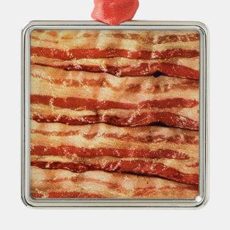 square tin bacon ornament