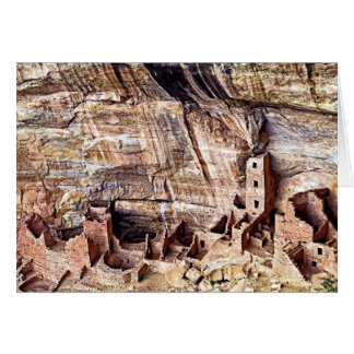 Square Tower House Ruins Mesa Verde Card