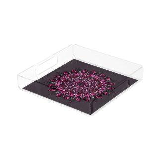 Square Tray Pink Mandala Design