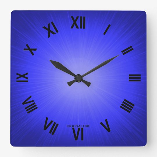 Square Wall Clock blue by highsaltire