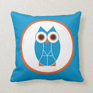 Square Wise Owl Pillow
