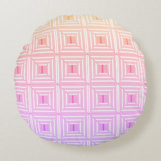 Square with pastels. round pillow
