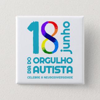 Squared Bóton Autista Pride 2 Inch Square Button