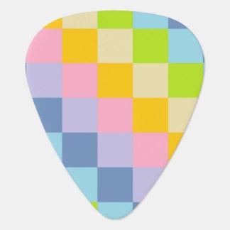 Squared Pastel Rainbow Guitar Pick