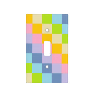Squared Pastel Rainbow Light Switch Cover