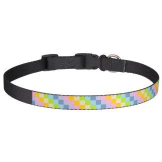 Squared Pastel Rainbow Pet Collar