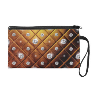 Squared pattern with diamonds wristlets