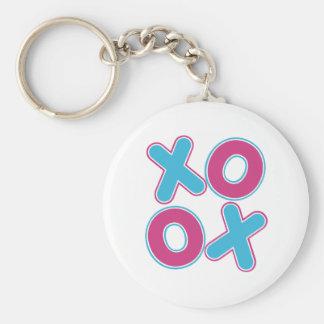 Squared XOXO Keychain
