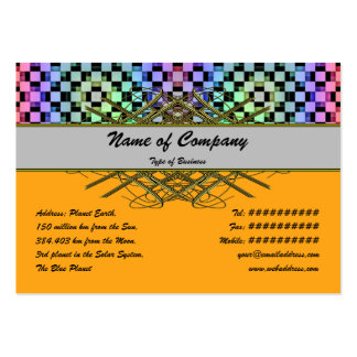 Squares Alternate Large Business Cards (Pack Of 100)