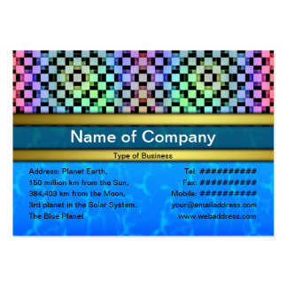 Squares Alternate Pack Of Chubby Business Cards