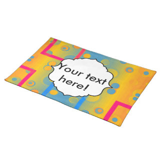 Squares and circles abstract design placemat