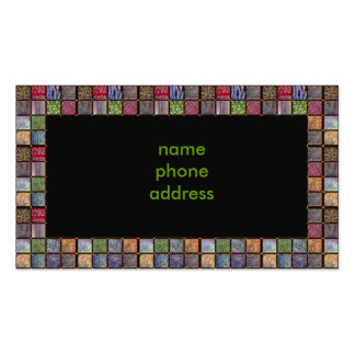 squares, business card