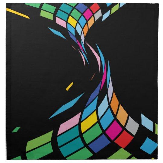 Squares Flows on Black Napkins