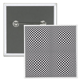 Squares in Motion Op-Art Button